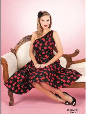 Stop Staring BLOOM Dress, BLACK CHERRY PRINT, Swing Dress, BLOOM2-01 BLKCH, Spring Summer 2020