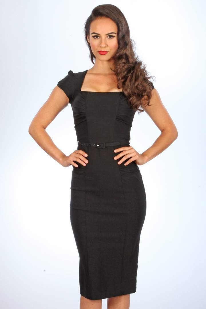 Stop Staring Dress,  CELEBRITY Dress,  Little Black Dress, CLBRTY-03 BLACK