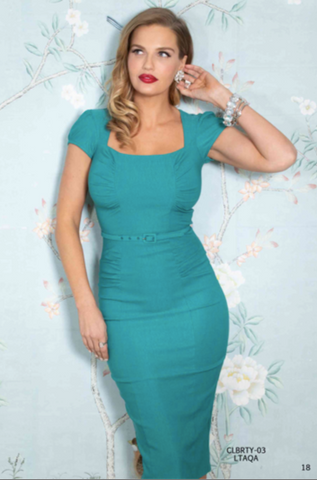 PRE ORDER Stop Staring CELEBRITY Dress, Light Aqua, CLBTY-03 LTAQA