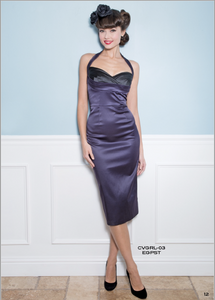 Stop Staring Dress, COVERGIRL Eggplant Satin Dress, CVGRL-03 EGPST , FALL WINTER 2018