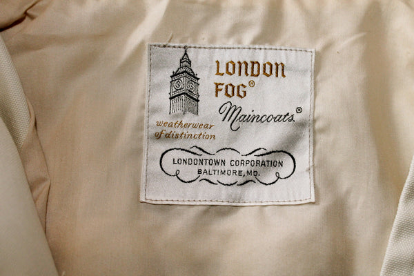 Vintage London Fog Ivory Jacket - size
