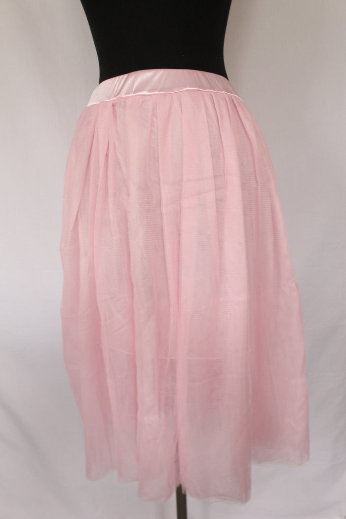 Vintage Inspired Pink Tulle Skirt  - one size, adjustable