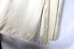 Vintage Cream Silk Jumpsuit Nightgown  - size 6/8