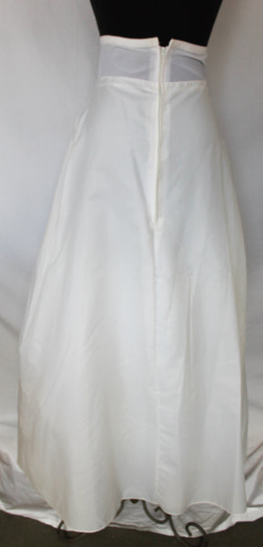 Vintage JCPenney White Full Long Adjustable Slip - XS/S