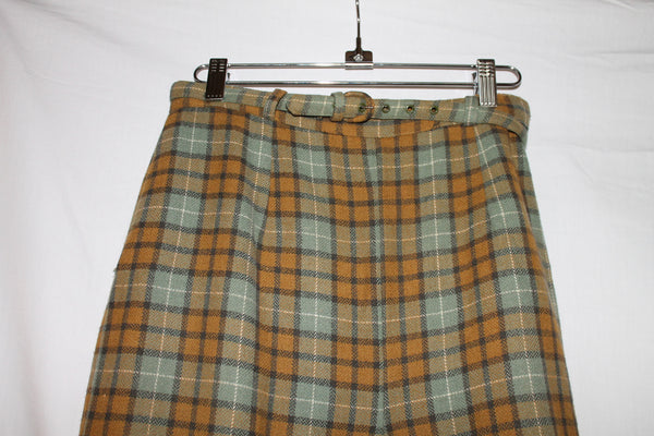 Vintage Olive and Rust 1950's Belted Crop Pants - M
