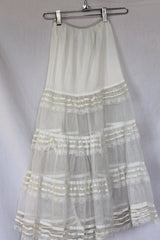 Vintage Tiered Lace Circle Slip - Bridal, Formal  - Size S/M