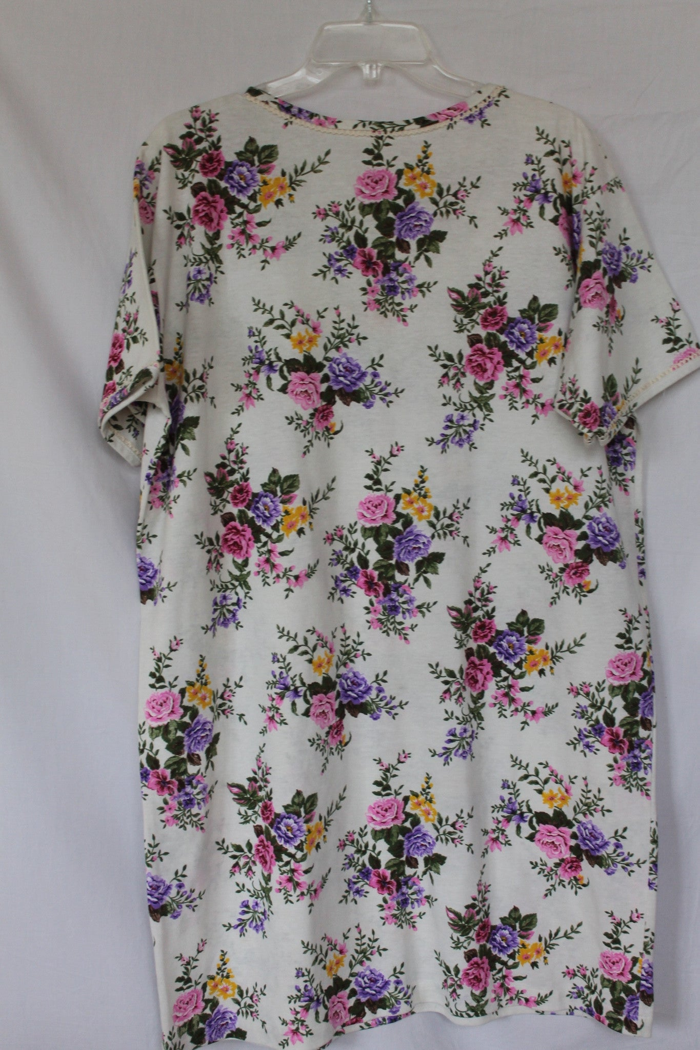 Vintage Floral Shift Dress - Size XL