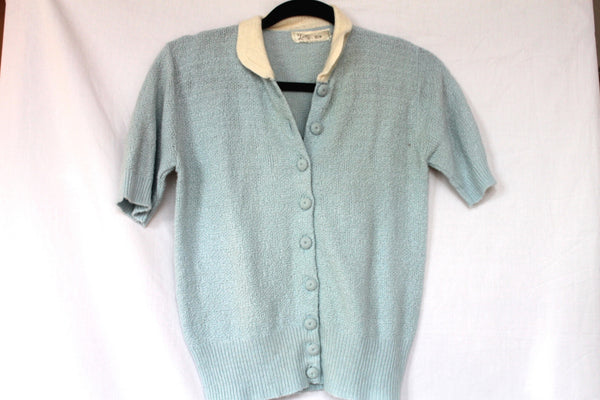Vintage Mid Century Ombre Blue Sweater by Laurel Ann Size-M
