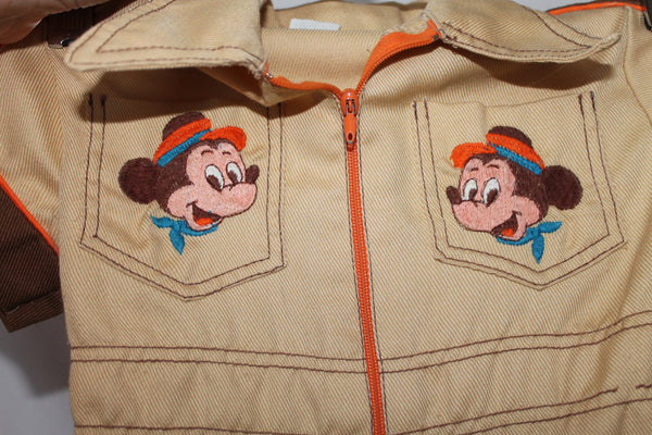 Vintage Infants Disney Mickey and Minnie Mouse Denim Onesie - Collector