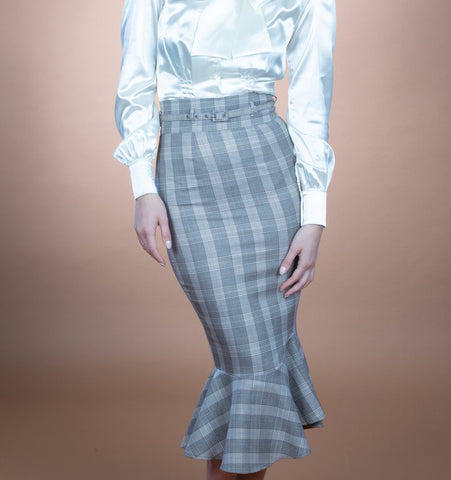 Stop Staring, INNOCENT Plaid Skirt, Pencil Skirt, Tulip Hem, INOCN-08 PLAID, FALL WINTER 2019