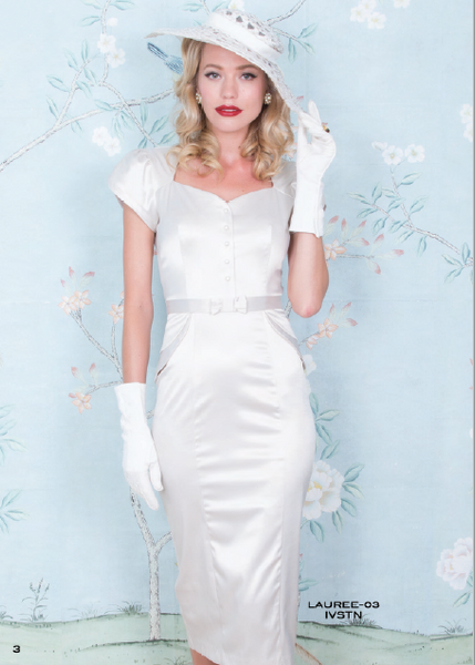 Stop Staring, LAUREE Dress, White Satin Dress, LAUREE-03 IVYSN, SPRING SUMMER 2019
