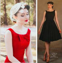 Stop Staring, LITTLE BLACK DRESS in RED, Fall Winter 2017, LITBD-03 RED - SWING