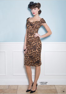Stop Staring, LIZZY Dress, Leopard Fitted Dress, LIZZY-03 LEOPR, FALL WINTER 2018