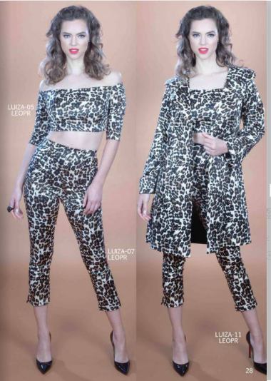 Stop Staring, LUIZA PANTS, Leopard Capri Pants, LUIZA-07 BLACK, FALL WINTER 2019