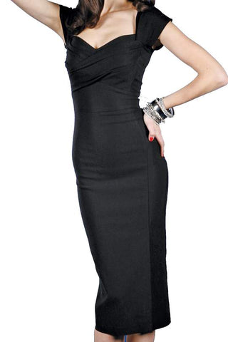 Stop Staring, MAD STYLE Dress, Little Black Dress, MDSTYLE-03 BLACK