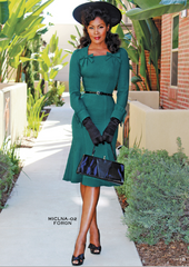 Stop Staring, MICHEALINA, Green Long Sleeve Dress, MICLNA-02 FORGR, FALL WINTER 2018,