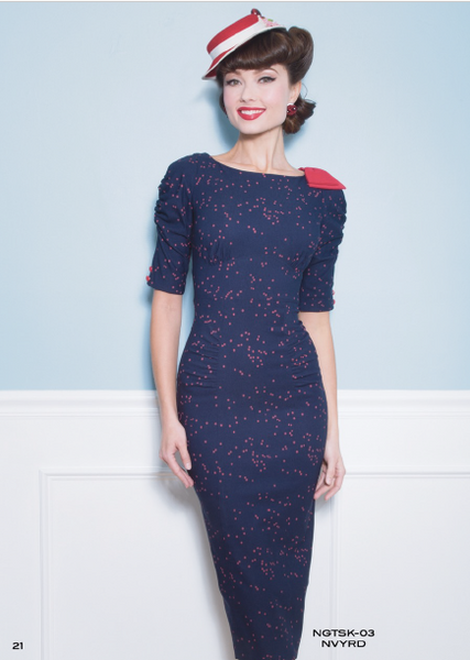 Stop Staring Dress, NIGHT SKY Navy w Red Dot Dress, NGTSK-03 NVYRD, FALL WINTER 2018