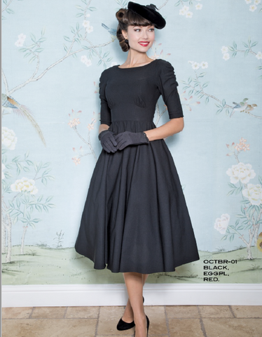 Stop Staring, OCTOBER Dress, Black Long Sleeve Swing Dress, OCTBR-01 BLACK, SPRING SUMMER 2019