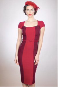 Stop Staring, PALOMINA Red Two Tone Dress, Celebrity Cut Dress, PALMN-03 RED, FALL WINTER 2019