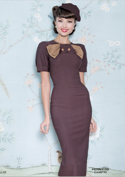 Stop Staring Dress, PENNY Dress, Chocolate Tan Bow, PENNY-03 CHWTN, FALL WINTER 2018