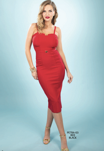 Stop Staring, PETRA RED Dress, PETRA-03 RED, SPRING SUMMER 2020