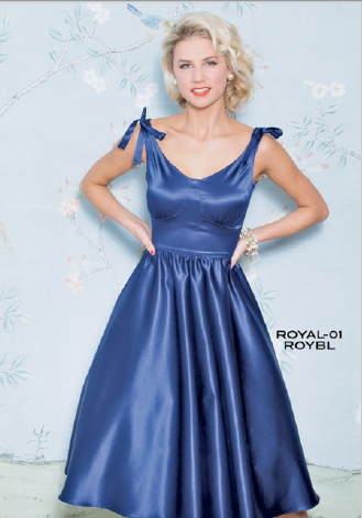 Stop Staring, ROYAL Dress, Royal Blue Satin Swing Dress, ROYAL-01 ROYBL, FALL WINTER 2018