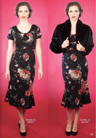 Stop Staring RAILEEN Red Floral Dress, RAILN--02 RDFLR, FALL WINTER 2019