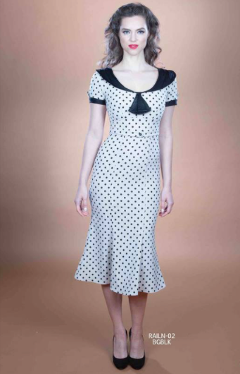 Stop Staring, RAILEEN Dress, Black Beige Polka Dot Dress, RAILN-02 BGBLK , FALL WINTER 2019