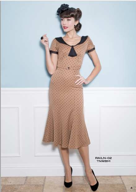 Stop Staring, RAILEEN Dress, Tan Polka Dot Dress, RAILN-02 TNWBM , FALL WINTER 2019