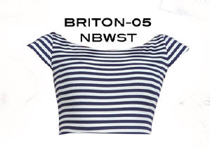 Stop Staring, BRITION, NAVY STRIPE TOP, NAUTL-09 NAVY