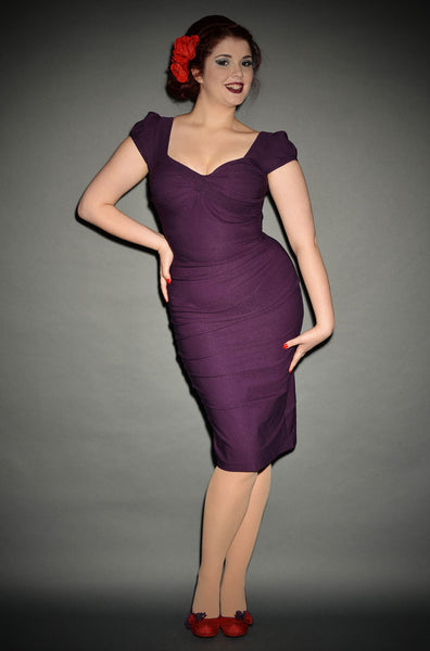 CUSTOM Stop Staring, BILLION DOLLAR BABY, EGGPLANT Dress, BLDDB-03 EGGPL