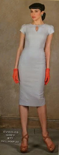 Stop Staring, EVIE, Grey Wiggle Dress, EVIED03 GREY