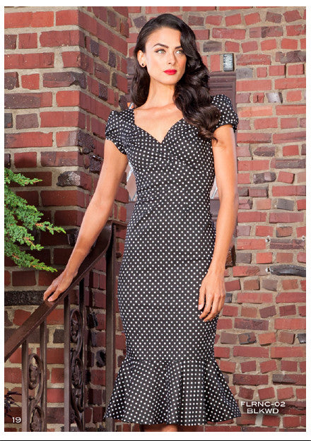 Stop Staring, Black Polka Dot, FLORENCE Dress, FLRNC-02 BLKWD
