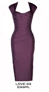 Stop Staring, EGGPLANT LOVE Dress, CLASSIC, LOVE-03 EGGPL