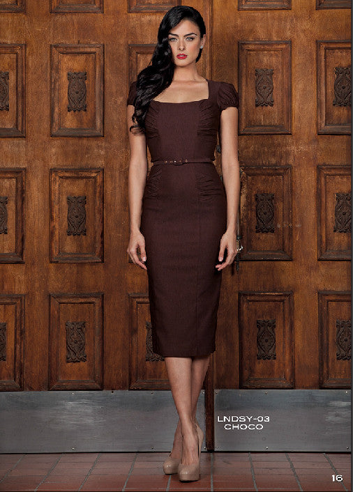 Stop Staring LINDSEY Chocolate Brown Dress - Fall Winter 2014