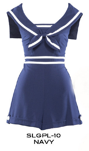 PRE ORDER New Stop Staring NAVY SAILOR Playsuit - SLGPL-10 NAVY
