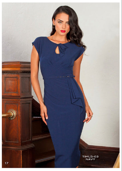 Stop Staring, TIMELESS, Navy Vintage Dress, TIMLS-03 NAVY, SPRING SUMMER 2019