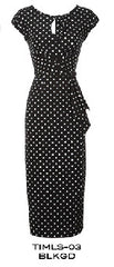 Stop Staring TIMELESS Black Polka Dot Dress - CLASSIC TIMLS -03  BLKWD