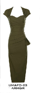 PRE ORDER New Stop Staring UMA Army Green Dress