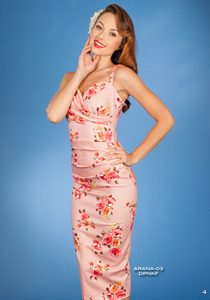 Stop Staring, ARANA Dress, Pink Floral, Fitted dress, Arana-03 DKPNF,