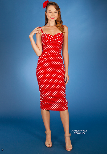 Stop Staring, Amery Dress, Spring/Summer 2016, AMERY -03 RDWHD,  Red with White Polka dot