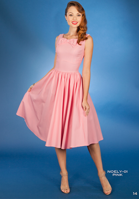 Stop Staring, Noely Dress, Spring/Summer 2016, NOELY -01 PINK,  Retro Pink Swing Dress
