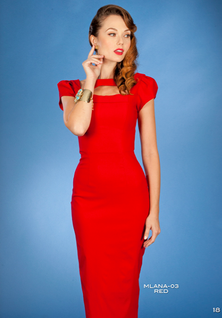 Stop Staring, Vintage Malana Dress, Spring/Summer 2016, MLANA -03 RED, Red Dress