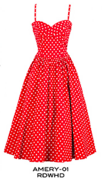 Stop Staring, Vintage Amery  Dress, Spring/Summer 2016, AMERY-01 RDWHD, red polka dot swing dress