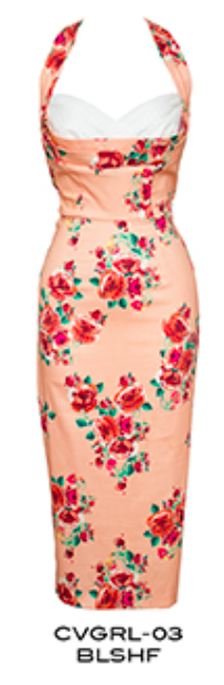 Copy of Stop Staring Vintage COVERGIRL Dress- Spring/Summer 2016 - CVGRL-03 BLSHF -Blush Flower Wiggle Dress
