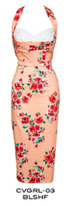 Stop Staring Vintage COVERGIRL Dress- Spring/Summer 2016 - CVGRL-03 BLSHF -Blush Flower Wiggle Dress