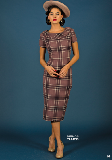 Stop Staring, SIRI Dress, Plum Plaid Dress, Fall Winter, 2017, SIRI-03 PLMPD