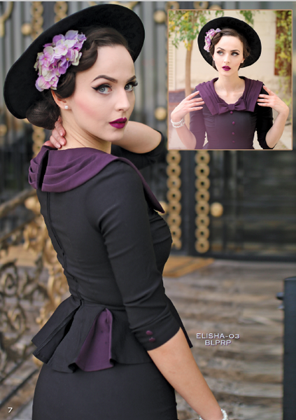 Stop Staring, ELISHA Dress, Black with Purple ELISHA- 03 BLPRP, FALL WINTER 2018