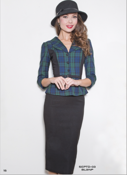 Stop Staring, SEPTEMBER Dress,  Blue Green Plaid Dress, SEPTD-03 BLGNP, FALL WINTER 2018