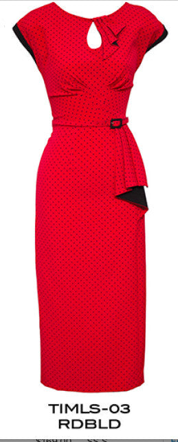 Stop Staring, TIMELESS RED w BLACK DOT Dress, Spring/Summer 2017, TIMLS-03 RDBLD